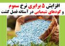 افزایش ۵ برابری نرخ سموم و کودهای شیمیایی در آستانه فصل کشت