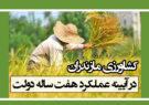 کشاورزی مازندران در آیینه عملکرد هفت ساله دولت