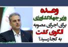 وعده وزیر جهادکشاورزی برای اجرای مصوبه الگوی کشت به کجا رسید؟