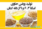 تولید روغن حاوی امگا ۳، ۶ و ۹ از دانه کتان