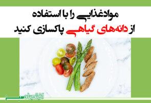 موادغذایی را با استفاده از دانههای گیاهی پاکسازی کنید