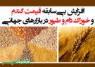 افزایش بیسابقه قیمت گندم و خوراک دام و طیور در بازارهای جهانی