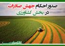 صدور احکام جهش صادرات در بخش کشاورزی