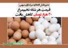 قیمت هر شانه تخممرغ ۳۰ هزار تومان کاهش یافت