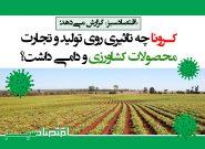 کرونا چه تاثیری روی تولید و تجارت محصولات کشاورزی و دامی داشت؟