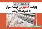 واردات ۵۰ هزار تن گوشت مرغ به گمرک ابلاغ شد + سند